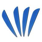 AAE Elite PlastiFletch Vanes 16 (50 Pack) (Blue)
