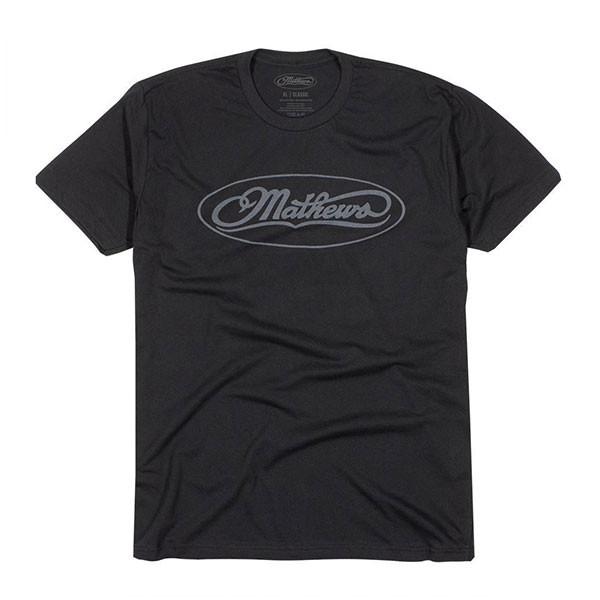 Mathews Black Classic Logo Tee XL