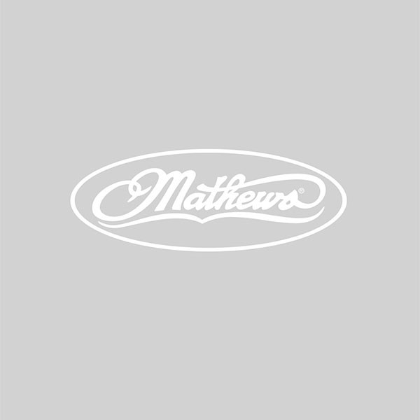Mathews 12 in White Logo Decal