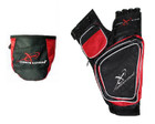 Carbon Express - Target Quiver & Release Pouch Combo - Red/Black - RH