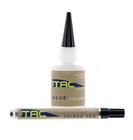 TAC - Fletching Glue Kit - 1/2 fl. oz. Bottle + .34 fl. oz. Primer Pen