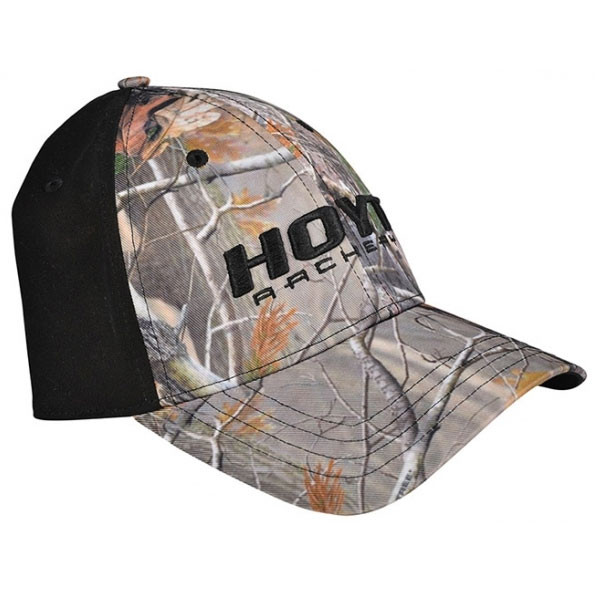 137a60157d5 Hoyt Black and AP Camo Fitted Cap with Logo - Caps   Hats
