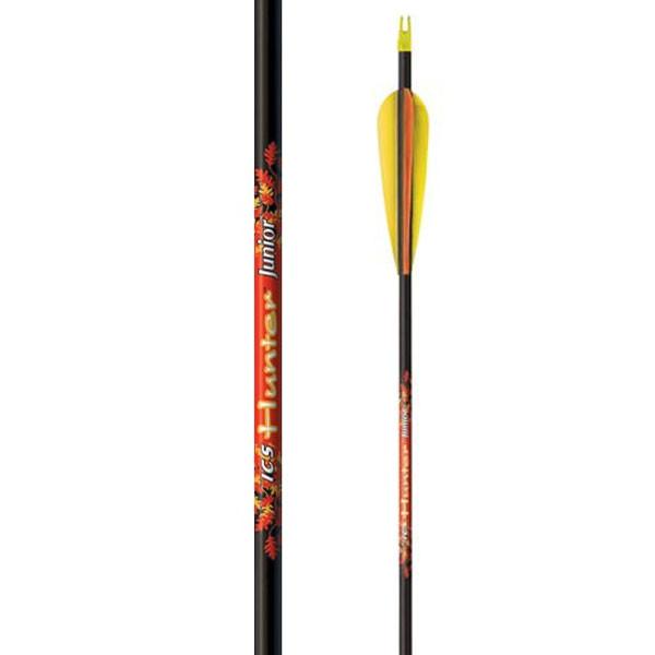 """Beman ICS Hunter Junior Carbon Arrows 26"""" w/3"""" Vanes 6 Pack #994589TF"""