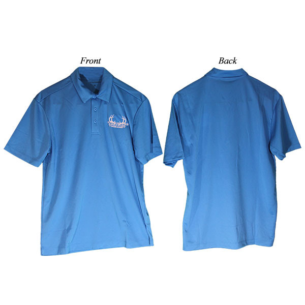 Bowhunters Supply Store Polo Brilliant Blue/White 2XL