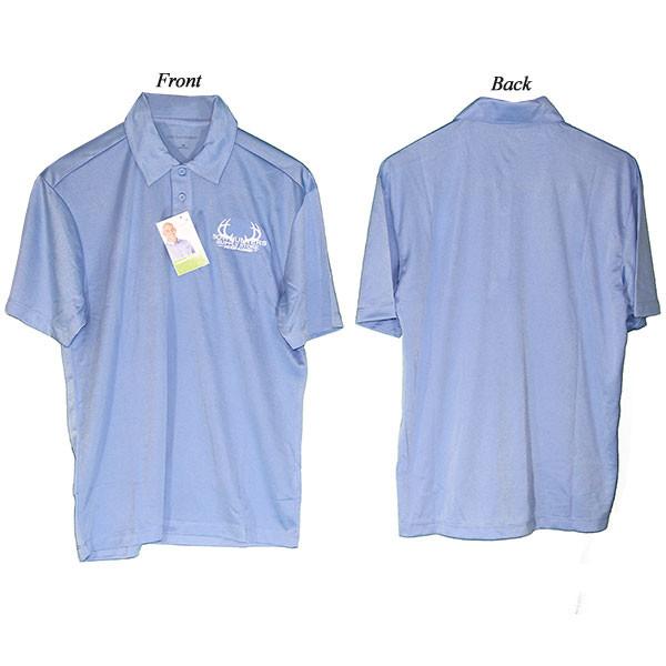 Bowhunters Supply Store Polo Carolina Blue/White Large