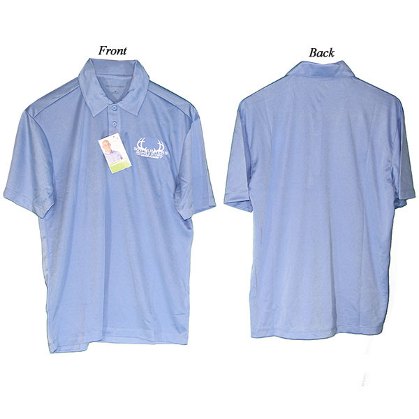 Bowhunters Supply Store Polo Carolina Blue/White 2XL-T