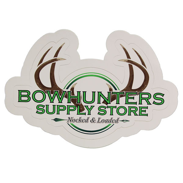 Bowhunters Supply Store 4 x 2.25 Decal w/Brown Antlers