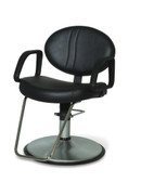 Belvedere CL100SC Calcutta Styling Chair with Chrome Base