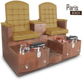 Gulfstream Paris Double Bench Pedicure Spa