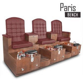 Gulfstream Paris Triple Bench Pedicure Spa