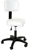 Silhouet Tone 413362 Contoured Air-Lift Stool with Backrest