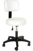 Silhouet Tone 413358 Round Air Lift Stool with Backrest