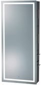 Pibbs 9110 SER02 Lumina LED Dimmable Lighted Mirror with Storage Server