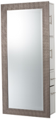 Pibbs 6619 SER02 Diamond Mirror - Silver with Storage Server