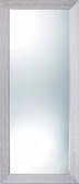 Pibbs 7719 Wave Mirror with Silver Frame