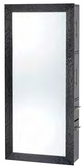 Pibbs 7727 SER02 Wave Mirror - Black Frame with Storage Server