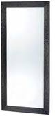 Pibbs 7727 Wave Mirror with Black Frame