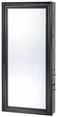 Pibbs 8827 SER02 Classic Mirror - Black frame with Storage Server