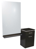 Collins 4402-54 Neo Wall Mounted Styling Station with Mirror and Ledge
