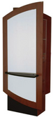 Collins 3355-36 Klips Back-to-Back Styling Island Station with No Mirrors Below Ledges