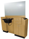 Collins 5511-66 QSE Deluxe 39Hi Barber Wet Booth Station