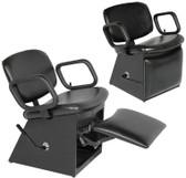 Collins 1850L QSE Shampoo Chair with Kickout Legrest