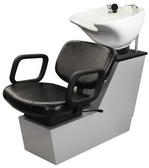 Collins 37BWS Cody Backwash Shampoo Shuttle Unit with Tilting Porcelain Bowl
