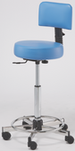 Pibbs 731 Round Seat with Backrest Stool
