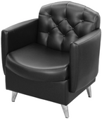 Collins 7125 Ashton Premium Reception Area Chair with Cast-Aluminum Legs