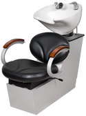 Collins 91BWS Silhouette Backwash Shampoo Shuttle with Tilting Porcelain Bowl