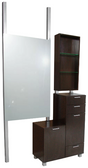 Collins 938-48 Amati Bi-Level Styling Station Vanity with Retail