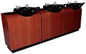 Collins 5711-96 European Three Bowl Backwash Shampoo System