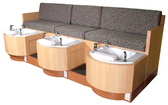 Collins 62478 Cielo Triple Basin Pipeless Pedicure Spa Bench