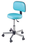 Pibbs 644 Round Seat Stool with Backrest