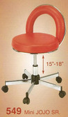 Pibbs 549 Mini Jojo Senior Stool with Backrest
