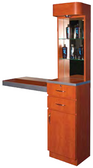 Pibbs 5003 Styling Station with Storage and Retail Display