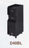 Pibbs D40BL Mobile Station w/Casters in Black Laminate