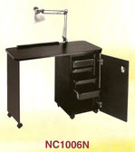 Pibbs NC1006N Manicure Table w/Locking Cabinet