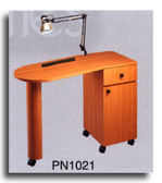 Pibbs PN1021 Laminated Angle Top Nail Center w/Lamp & Pad