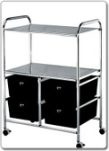 Pibbs D4 Work Cart with 4 storage drawers