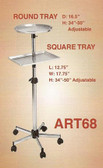 Pibbs ART68 Round Mayo Tray Metal w/Shelf