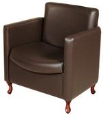 Collins 6960 Bradford Cigno Reception Chair with Queen Ann legs