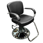 Pibbs 3906 Latina Styling Chair in BLACK with Round Base