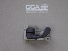 Left front door interior release handle (grey) Used