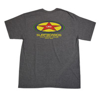 JG Surfboards Oval Star T-Shirt - Heather Grey