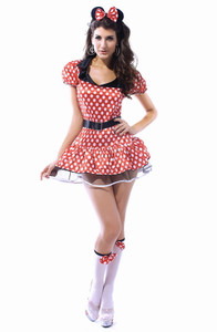 Plus Size Miss Mouse Costume