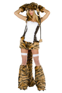 Plus Size Sabertooth Sexy Complete Costume