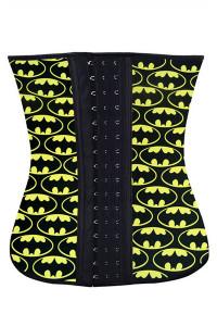 Plus Halloween Fashion 4 Steel Bone Batman Waist Trainer
