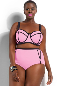 Light Pink Plus Size Underwire Top Bikini