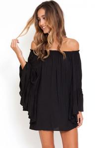 Black Ethereal Chiffon Mini Dress